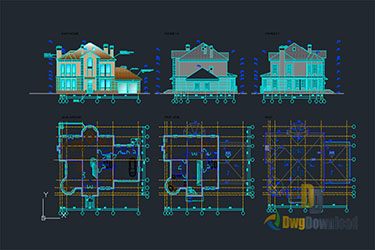 Family House Details Dwg Download