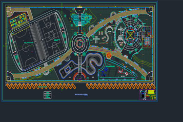 Recreational Park Dwg Project
