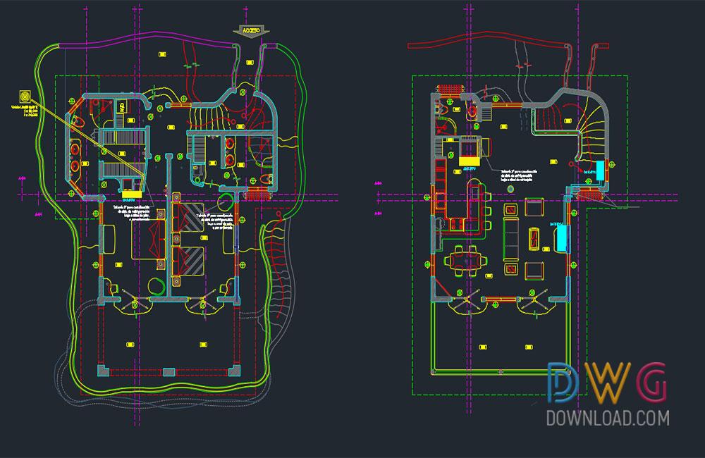 Modern Villa Dwg Project Dwgdownload Com