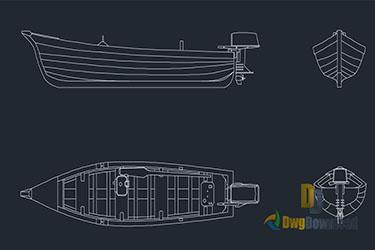 Motorboat Detail Drawings Dwg Download