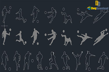 Soccer Players Blocks Dwg Download