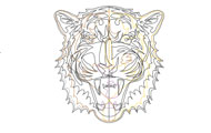 Tiger Face Autocad Block