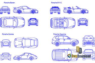 Porsche Car Details Dwg Download
