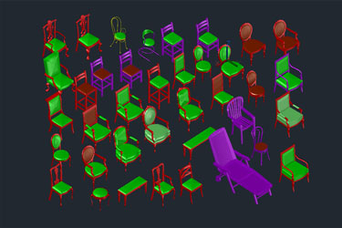 3D Chair Collection