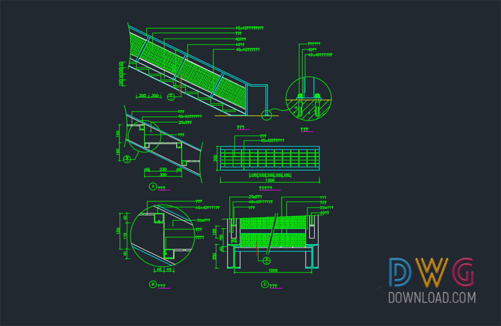 Charming Staircase Dwg Detail Drawing