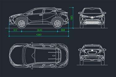 Toyota C Hr Car Detail Drawing