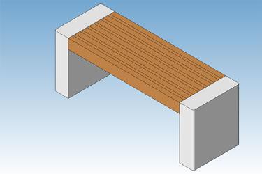 Parametric Park Bench Revit 3D Model