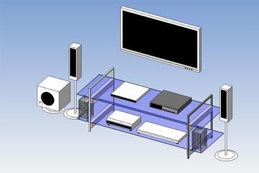 Home Theatre System Revit 3D Model