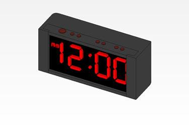 Alarm Clock Revit 3D Model