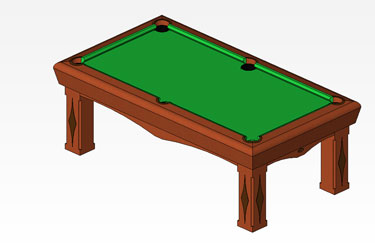 Billiards Table 3D Model