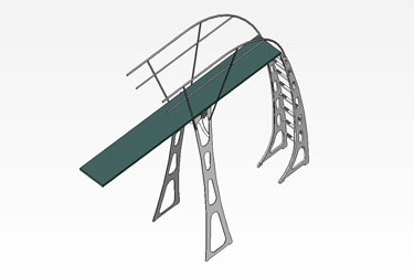 Diving Board 3 Meter Revit 3D Model