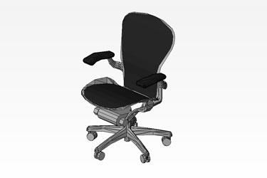 Work Chair Revit 3D Model