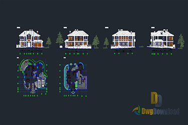 Villa Details Dwg Download