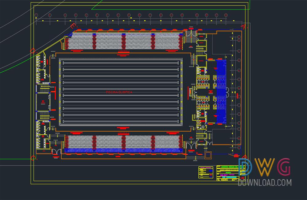 Olympic Swimming Pool Project Dwgdownload Com