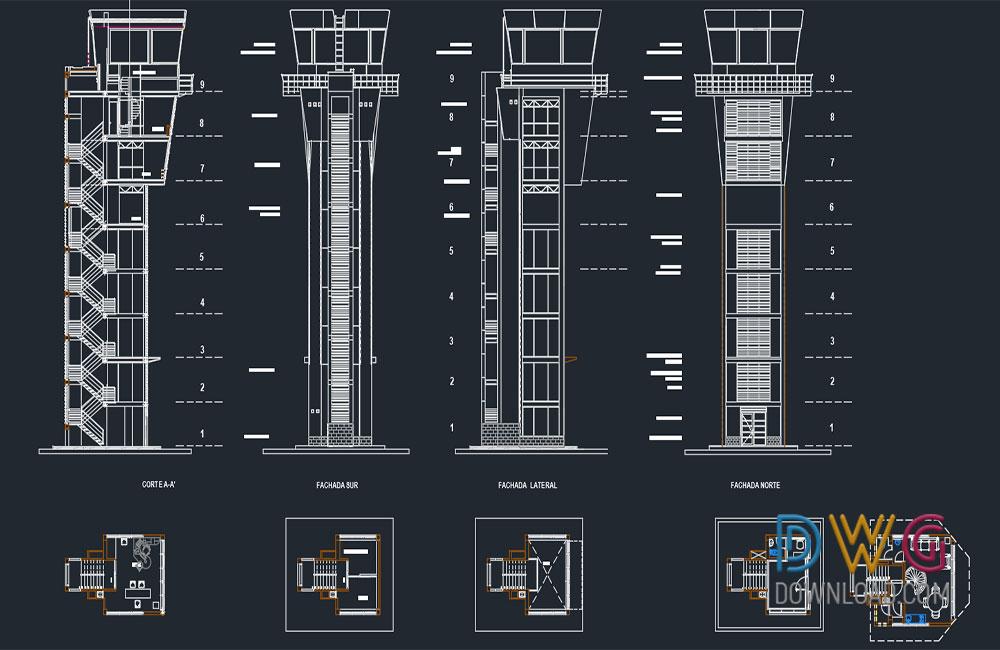 airport plan dwg free download