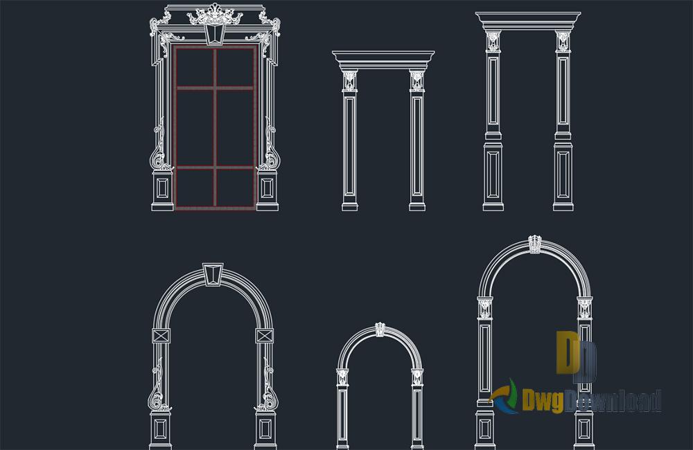 Decorative Frames For Doors Windows Dwg Download & Decorative Frames For Doors Windows Dwg Download » DwgDownload.Com