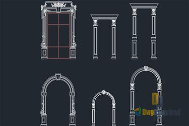 Decorative Frames For Doors Windows Dwg Download