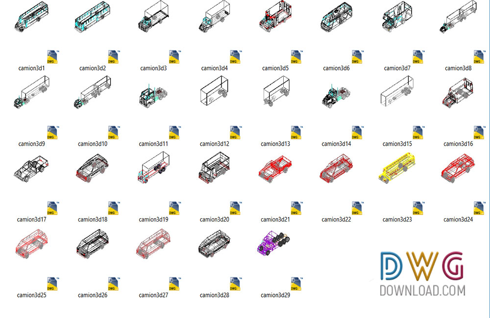 Trucks 3d Cad Blocks Archives Dwgdownload
