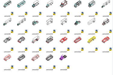 Trucks 3D Cad Blocks Archives