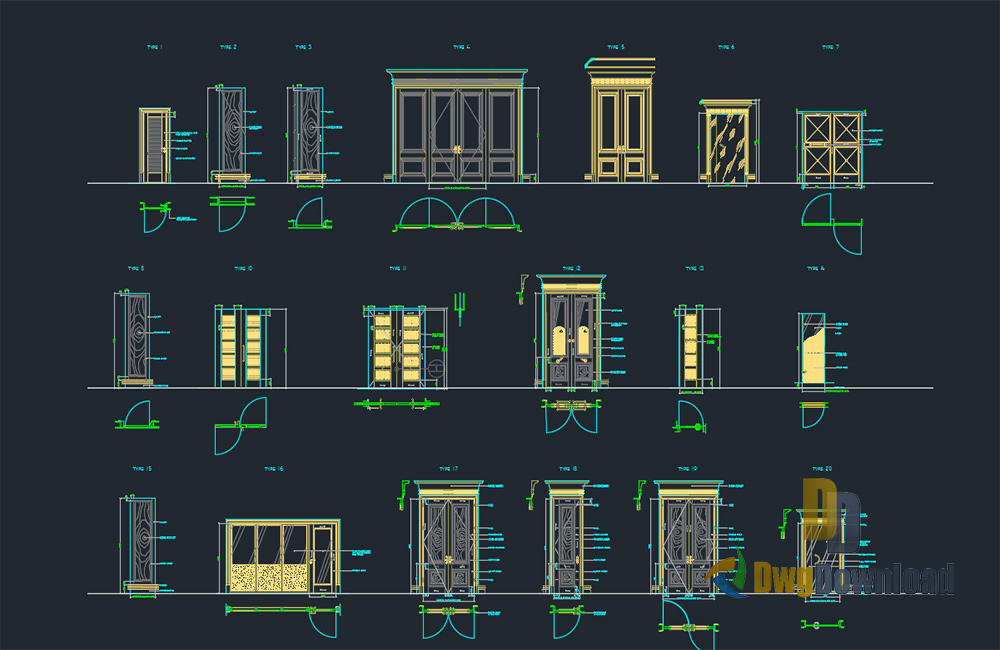 Glamorous Door Detail Dwg Pictures - Exterior ideas 3D - gaml.us ...