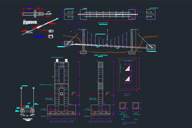 Bridge Technical Architectural Drawing