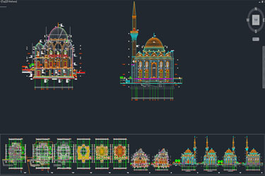 Mosque Architectural Detail Project Dwg