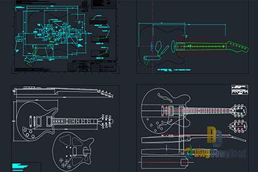 Guitar Details Dwg Download