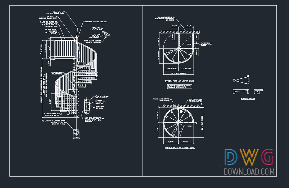 Spiral Staircase Dwg Download 3 Dwgdownload Com