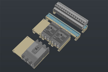 Electrical Control Panel 3D