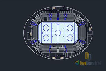 Hockey Arena Dwg Download