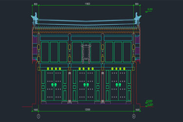 Ancient Architecture Cad Door Module Autocad Drawing
