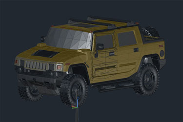 Hummer 3D Autocad Drawing