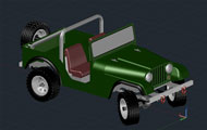 Jeep 3D Autocad Drawing