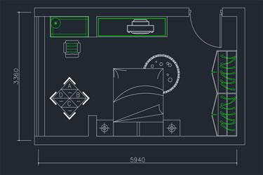 Bedroom Settlement Plan