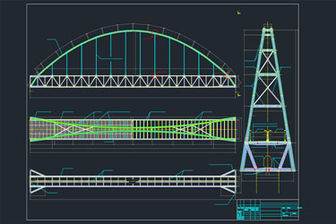 Bridge Across The River Detail Drawing