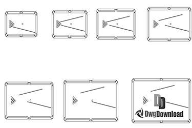 Billiard Table Sizes Dwg Download