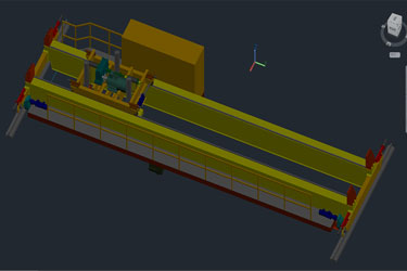 Crane Bridge 3D Autocad Drawing