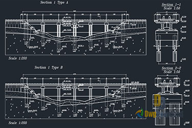 Bridge Technical Drawing Dwg Download