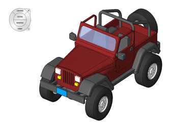 Road Jeep Revit 3D Model