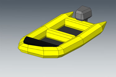 Rubber Boat Revit 3D Model