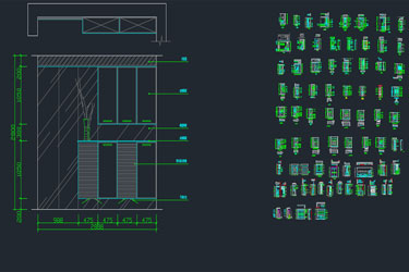 Shoes Cabinet Autocad Blocks