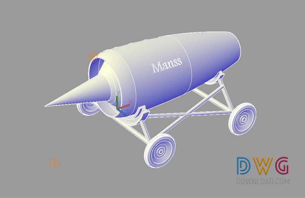 Jet Engine Autocad 3d Drawing Dwgdownload Com