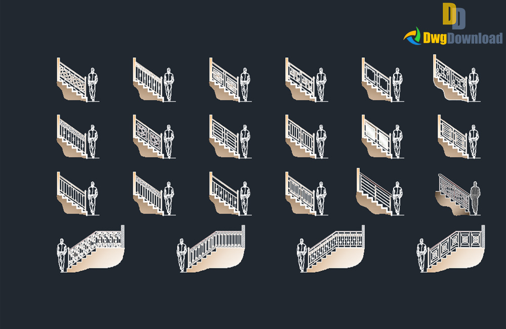 cad blocks, handrails cad blocks about  categories of stairs,cad-blocks,fences-handrail