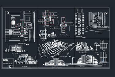 Municipality Building Autocad Project