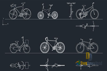 Bicycles Cads Blocks Dwg Download