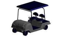 Golf Cart Revit 3D Model