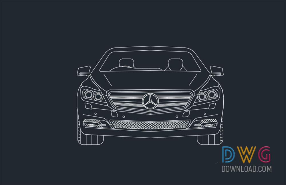 Mercedes Benz Car 2D Drawing » DwgDownload.Com
