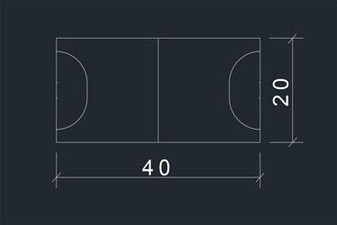 Handball Court Dwg