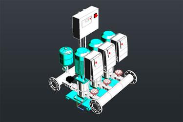 Synchronızed Pump 3D Dwg