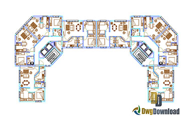 Residential Building Dwg Download